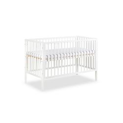 Clamaro Babybett, Clamaro 'Nap' 120 x 60 Babybett Gitterbett aus Kiefernholz inkl. Lattenrost (3-fach höhenverstellbar) mit 3 herausnehmbaren Gitterstäben - Kinderbett Maße: 125 x 66 x 85 cm