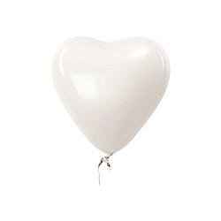 Ballons Herz Weiss