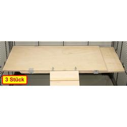 Ausziehbare Holzetage FLEX-ED 37 x 20 x 1,7 cm ausziehbar bis ca. 62,5 cm 3 Stück