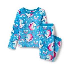 Pyjama-Set aus Plüsch-Fleece - 128/134 - Blau