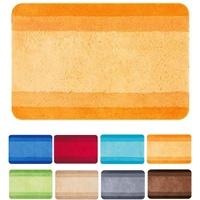 spirella Badematte - kuscheliger Hochflor | Rutschfester Badvorleger | viele Größen | Waschbar 40°, | 65x55 cm | orange