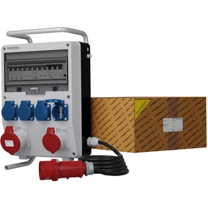 Mobil Stromverteiler Baustromverteiler TD-S/FI 32A 16A 4x230V Mennekes Dosen Kabel Metallständer Steckdosenverteiler Doktorvolt® 9368