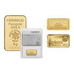 5 g Goldbarren (zollfrei)