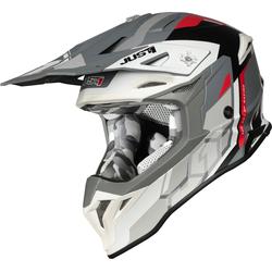 Just1 J39 Reactor Motorcross helm, grijs-wit-rood, L