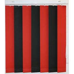 Lamellenvorhang nach Maß, sunlines, mit Bohren, mit Beschwerungsplatten, ohne Teilung rot