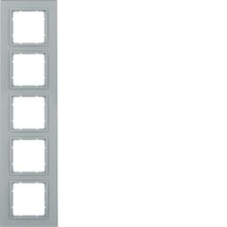 Berker 10156414 ,Rahmen 5fach B.7 Glas alu