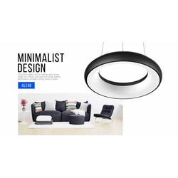 LED Deckenleuchte Abgehängt, Dimmbar (Gehäuse farbe: schwarz/weiß)