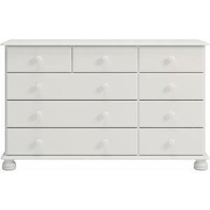 Home affaire Kommode Richmond, mit 9 Schubladen, Breite 121 cm weiß