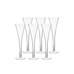 LEONARDO Champagnerglas NIZZA Sektglas Sektflöte 6er Set (6-tlg), Glas