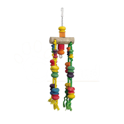 Papageienspielzeug Vogelspielzeug Holz 63 cm