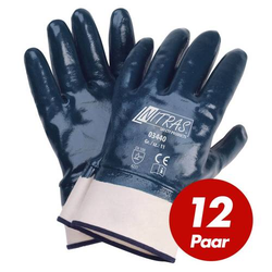NITRAS 03440 Nitrilhandschuhe Arbeitshandschuhe Handschuhe mit Stulpe - 12 Paar - Größe:11