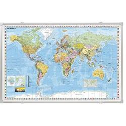 FRANKEN Weltkarte laminierte Holzfaser-Platte