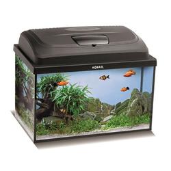 Aquael Aquarium Set CLASSIC LT inkl. Abdeckung, Filter, Heizer, LED Beleuchtung 60x30x30 rechteckig