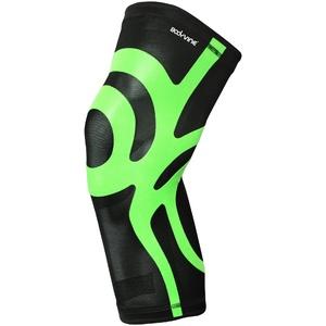 BODYVINE Unisex – Erwachsene Ultrathin Compression Plus Kompressions Knie Bandage mit Power-Band Stabilisator Tape, Grün, XL