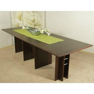 Kulissentisch nußbaum Esstisch Esszimmertisch Esszimmer Tisch Wohnzimmertisch