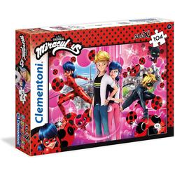 Clementoni® Steckpuzzle Clementoni 23712 - Miraculous - Ladybug - Puzzle, Supercolor, Maxi, 104 Teile, 104 Puzzleteile bunt