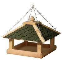 Dobar Vogelhaus mit grünen Bitumenschindeln, inkl. Kette