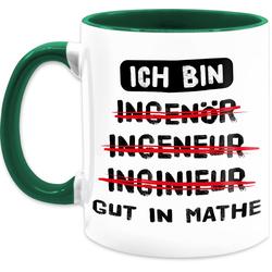 Shirtracer Tasse Ich bin gut in Mathe Ingenieur schwarz - Tasse Berufe - Tasse zweifarbig, Keramik