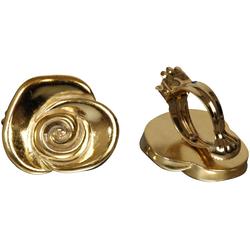 Dekoklammer Rose, Liedeco, Gardinen, Vorhänge, (Packung, 2-St), für Gardinen, Vorhänge goldfarben
