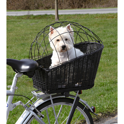 TRIXIE Tierfahrradkorb, bis 8 kg, BxTxH: 36x53x55 cm schwarz Hundetransport Hund Tierbedarf Tierfahrradkorb