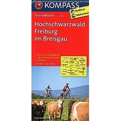 Kompass Fahrradkarten: Kompass Fahrradkarte Hochschwarzwald  Freiburg im Breisgau - Buch