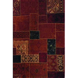Patchwork Teppich - (Rot; 120 x 170 cm)