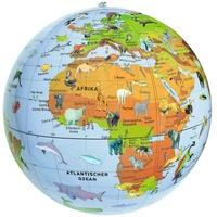 Moses moses. 38076 Aufblasbarer Tierglobus | Wasserball Weltkugel mit Tieren | Zum Spielen im Wasser und an Land | Für Kinder, bunt