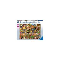 Ravensburger Puzzle Puzzle 1000 Teile, 70x50 cm, Kurioses Küchenregal, Puzzleteile