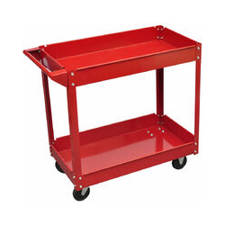 Helloshop26 - Chariot servante d'atelier charge 100 kg rouge outils garage atelier bricolage - Rouge