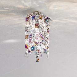 Kristall-Deckenleuchte Prisma Stretta von Kolarz® 12x 12cm in Chrom Prisma Stretta 1x 25 Watt, chrom, Chrom 1314.11MQ.5.KPTV