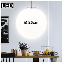 etc-shop LED Pendelleuchte, LED Design Pendel Lampe Glas Kugel Leuchte 7 Watt Strahler Beleuchtung rund