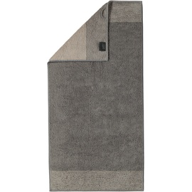 CAWÖ Luxury Home Two-Tone 590 Handtuch 50 x 100 cm graphit