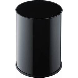 Papierkorb aus Metall 15l schwarz