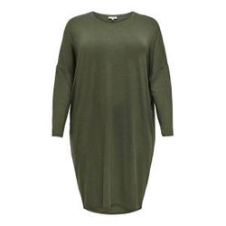 ONLY Knielanges Curvy Kleid Damen Grün Female M-46/48