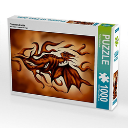 Flammendrache Lege-Größe 48 x 64 cm Foto-Puzzle Bild von Pezi Creation Puzzle