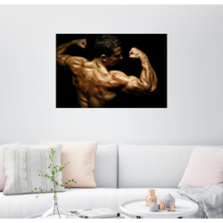 Posterlounge Wandbild, Bodybuilder in Pose 100 cm x 70 cm