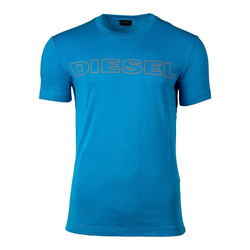 Diesel Unterhemd Herren T-Shirt, UMLT-JAKE HEMD, Rundhals, Print, blau L