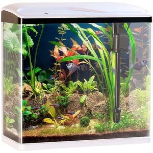 Sweetypet Aquarium Komplettset: Nano-Aquarium-Komplett-Set mit LED-Beleuchtung, Pumpe & Filter, 40 l (Aquarien)