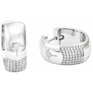 Creolen für Damen, Sterling Silber 925 JOOP! Silber