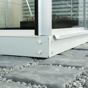 """Vitavia Stahlfundament """"3800"""" für Gewächshaus """"Orion"""",aluminium,3800 / 192,2 x 192,2 x 6,0 cm"""
