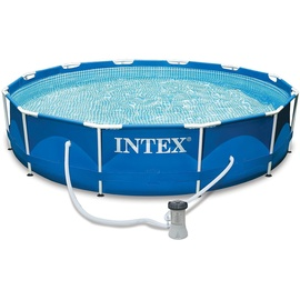 Intex Metall Frame Set 366 x 76 cm inkl. Filterpumpe (28212)