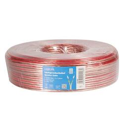 LogiLink Lautsprecherkabel, 2x 1,5 mm², 50m