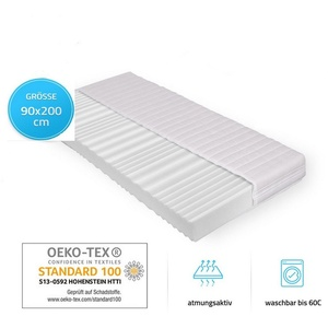 Komfortschaummatratze Ortho Basic, HOME DELUXE, 16 cm hoch, abnehmbarer Bezug 90 cm x 200 cm x 16 cm