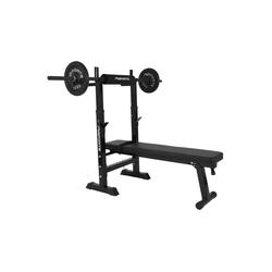 MSports® Hantelbank MSPORTS Hantelbank Professional Multifunktion klappbar für Langhantelstangen bis 200 kg Hantel Training