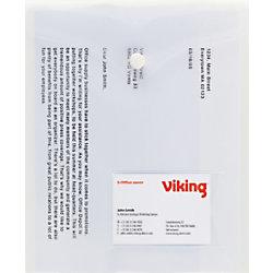 Office Depot Aufbewahrungstaschen mit Visitenkartenfach DIN A5 Transparent Polypropylen 5 Stück