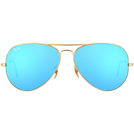Ray Ban Aviator Flash Lenses RB3025 62mm gold / blue flash