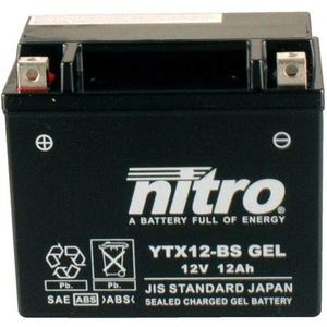 Batterie 12V 10AH YTX12-BS Gel Nitro 51012 ZR-7 F ZR750FF 99-04