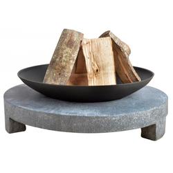 Esschert Design | FF137 | Feuerschale Granito mit rundem Sockel