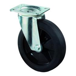BS Rollen Lenkrolle Elastikreifen schwarz Ø 200 mm