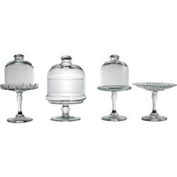 CreaTable Servierteller, Glas, (4-tlg), 4-teilig